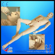 Fortgeschrittene medizinische Voll-funktionale ältere männliche Patient Modell medizinische männliche Krankenpflege Modell menschliche Puppe
