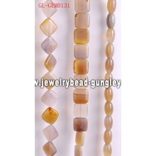 Natural agate gemstone bead