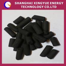 1000 indice d'iode 0,9 mm, charbon actif colonnaire 3 mm pour masque à gaz