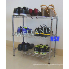 Adjustable Steel Chrome Shoes Rack (LD503050C3C)