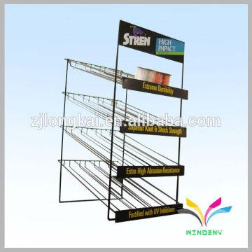 New model floor stand 4 tires metal foldable tea storage display rack