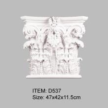 Capital corintia romana para pilastras de PU
