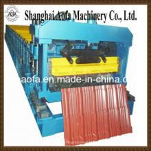Farbige glasierte Stahlfliese, die Rollformmaschine herstellt