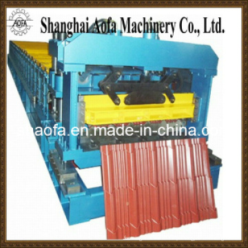 Máquina formadora de rolos para telha esmaltada de aço colorido