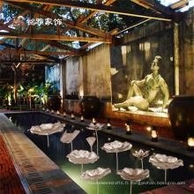 Hôtel jardin maison décoration florale métal métier métal lotus décor