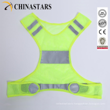 one size fit all lightweight mesh running reflective vest
