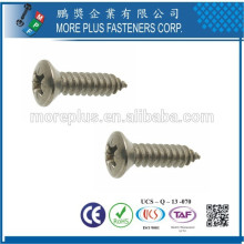 Made in Taiwan M3X12 Zinc Plated Countersunk Head Self Tapping Screws