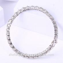 Bracelets plaqués rhodium dames de bracelet de mère de jour de rhodium