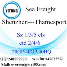 Shenzhen Port Mer Fret maritime à Thamesport