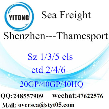 Shenzhen Port Sea Freight Shipping para Thamesport