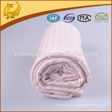 Suave de bambú orgánico de material de color puro estilo térmico de bambú recibiendo Muselina bebé envoltura