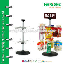 Retail Store Two Tiers Rotating Spinner