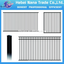 aluminum railing systems black aluminum fence / China low price pecessed aluminum fence