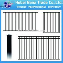 алюминиевые перила системы черный алюминиевый забор / Китай низкая цена pecessed алюминиевый забор