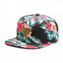 Metal Plate Wholesale Floral Snapback Cap
