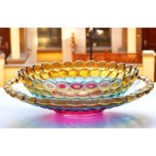Cuenco de fruta cristalino colorido de la moda