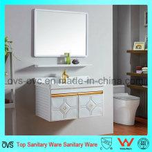 Armário embutido de lavatório de pia do banheiro com espelho