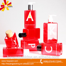 Garrafa cosmética de plástico de cuidados da pele