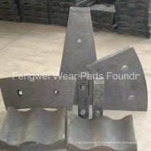 Plaque de doublure en moulinet à haute teneur en manganèse haute qualité OEM