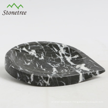 Natural marble salad plate with heart shape