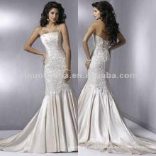 НН-163 элегантный бисером и Плиссированные лиф Холтер Русалка свадебное платье/свадебное платье