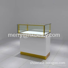 Fashion style jewellery display showcase and counter with LED lights