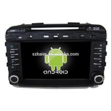 Glonass / GPS Android 4.4 Miroir-lien TPMS DVR voiture multimédia central pour KIA 2015 Sorento avec GPS / BT / TV / 3G