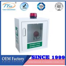 Gabinete montado en la pared interior certificado TUV CE para desfibrilador AED