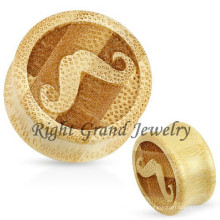 Wholesale Natural Organic Mustache Wood Ear Tunnels