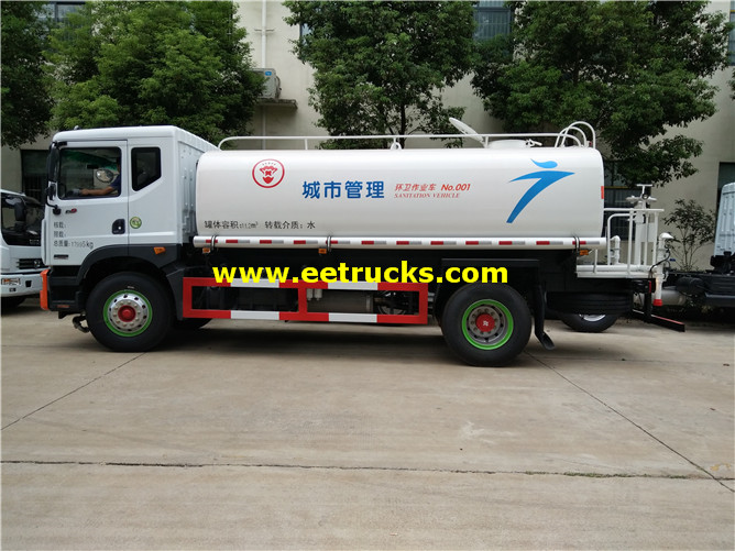 4000 Gallons Light Water Tank Trucks