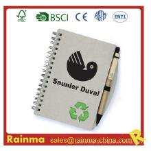 Mini Notebook Espiral com caneta esferográfica