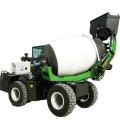 Kurzer Transport von Betonmischfahrzeugen