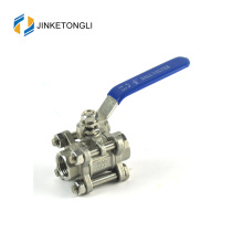 JKTL3B005 cf8m 1000 wog 3pc handles ss316 sanitary ball valves