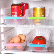 Réfrigérateur panier de rangement moulures maison boîte de rangement en plastique aliments et boissons creux tiroir de rangement panier moules entreprise