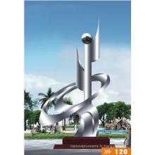 Modern Grand Arts Résumé Sculpture en acier inoxydable pour décoration de jardin