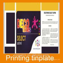 Schönes Design Druckbogen Weißblech