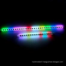 360 degrés 64LEDs / m led couleur changeant les lumières dmx 3d rgb 4pin led tube dc12v
