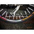colorful stripe plastic Reflective Bicycle Wheel Sticker