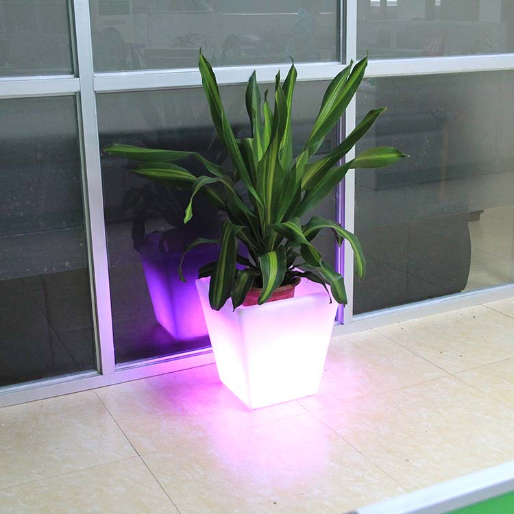 Plastic Rectangular Led Flower Planter Box