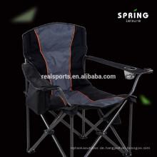 Moderner tragbarer Metallstahl-Sonnenliege mit Armrest-Strand-kampierendem Klappstuhl