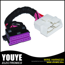 Customized 3m Round Jacketed 28 AWG Flat Cable Wire Harness