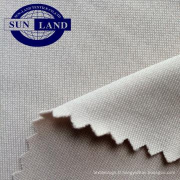 Tissu jersey spandex teint en fil élastique de mélange de mode 2018