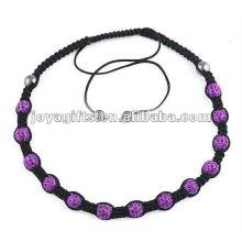 Collier en forme de couleur violet 13PCS Shamballa