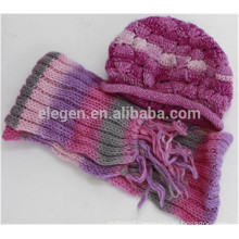 Women new design China factory Fall/Winter Knitted Marching hats