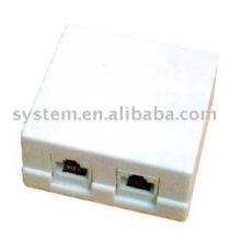 Cat.5e boîte à double port de montage en surface