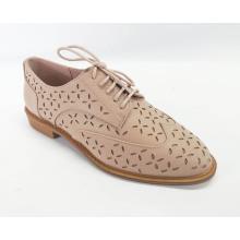 Sapatos de amarrar perfurados para mulher Brogue Wingtip