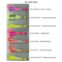 Jig Head Fishing Lure com única cauda e pena