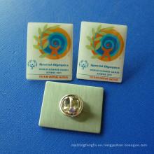Pin de impresión offset, insignia de goteo Epoxy-Goteo de la competencia (GZHY-OP-005)