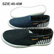 Deslizamento dos homens novos da forma do estilo em sapatas ocasionais das sapatas do sarja de Nimes (MP16721-8)