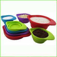Makanan Grade Folding Silicone Kitchen Measuring Cup